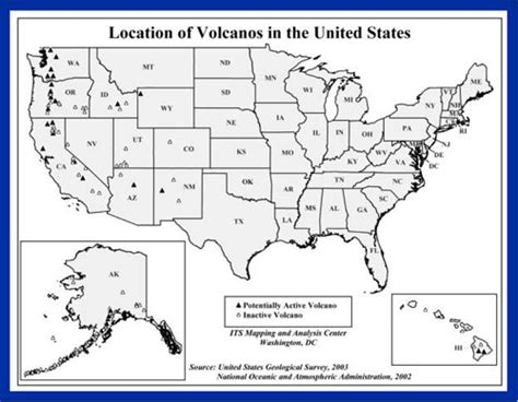 map of volcanoes in the united states volcano survival disaster planning survival