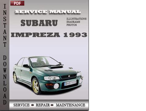 subaru impreza service repair manual 1993 1994 1995 1996 download subaru impreza 1993 service repair manual download manuals