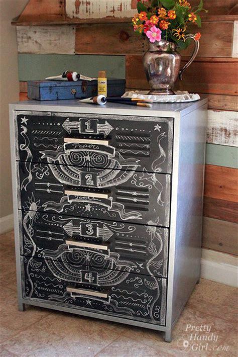chalkboard paint on metal faux zinc metal cabinet makeover hometalk