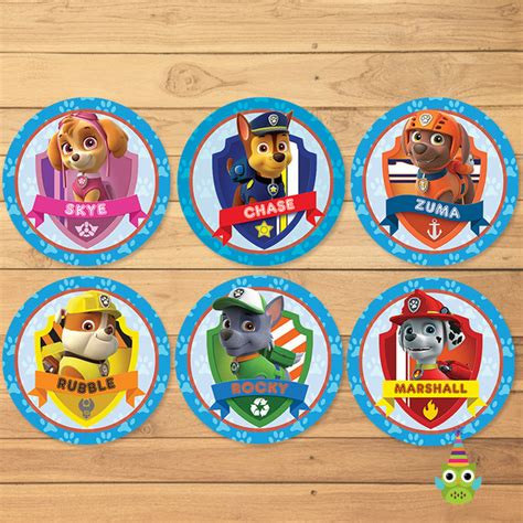 Cake Topper Besar Paw Patrol paw patrol cupcake toppers blue paw by partyprintables37