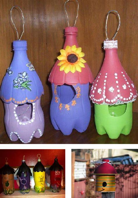 bottel oorgetrek met net pinterest vogelhuisjes plastic flessen to try plastic flessen vogelhuisjes en