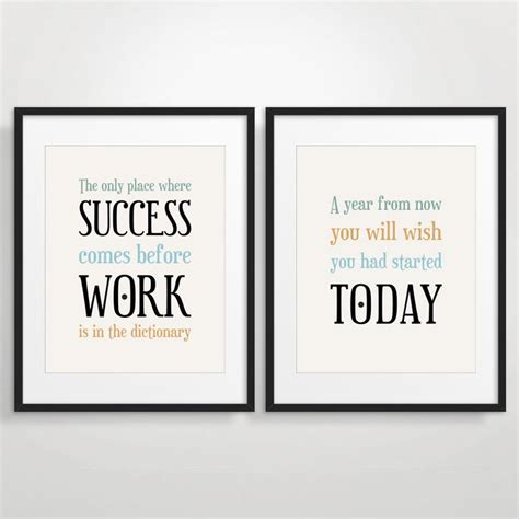 office wall art office decor typography posters inspirational quote art motivational print set of 2