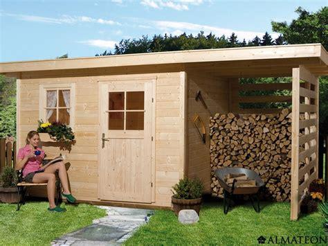 abri de jardin avec appentis bois abri en bois brut 9 2 m2 avec appentis schongau 5 233 paisseur 28 mm almateon