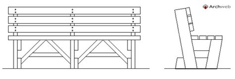 dwg panchine panchine in legno wooden benches drawings