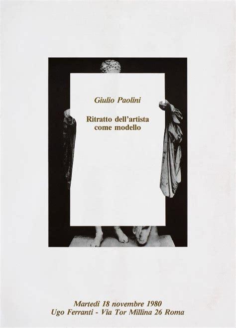libreria paolini giulio paolini ritratto dell artista come modello 1980