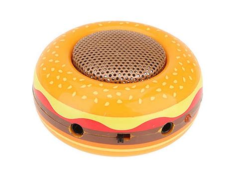 hamburger styled portable speaker gadgetsin
