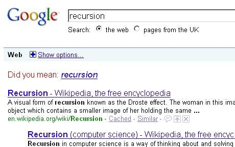 Google Did You Mean Meme - recursion did you mean know your meme