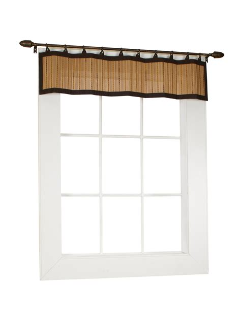 Bamboo Ring Top Curtain Brp11 Window Valance 48 By 12 Bamboo Kitchen Curtains