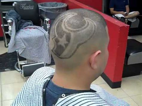 free haircuts houston texas houston texans logo by rick aka da people s barber youtube