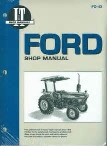 ford tractor shop manual models 2810 2910 3910 ebay