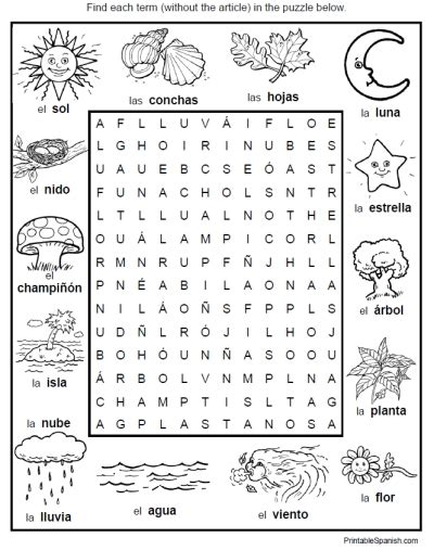 printable word search in spanish 606 best printable spanish images on pinterest english