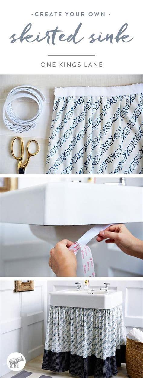 how to make a bathroom sink skirt skirt tutorial pedestal and sink skirt on pinterest