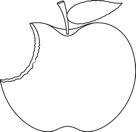 drawing images for eaten apple drawing stock image