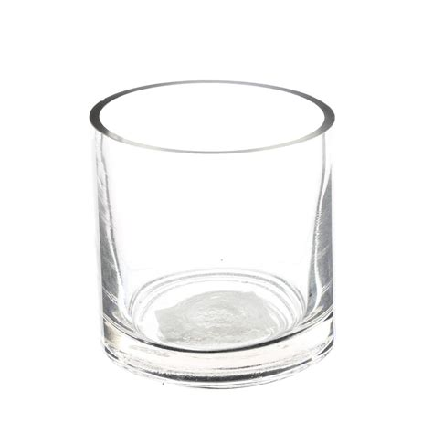 glass vase wholesale clear cylinder glass vase 3 quot opening x 3 quot height