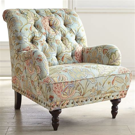 blue and white armchair chas blue floral armchair pier 1 imports