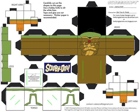 Scooby Doo Papercraft - scooby doo paper crafts