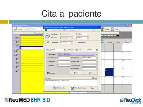 record medico electronico neomed