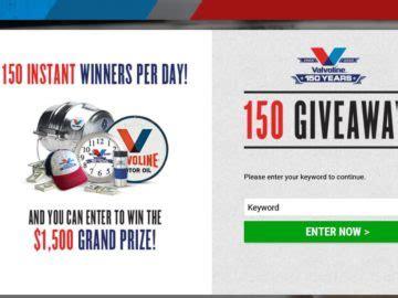 Valvoline Giveaway - valvoline 150 giveaway sweepstakes
