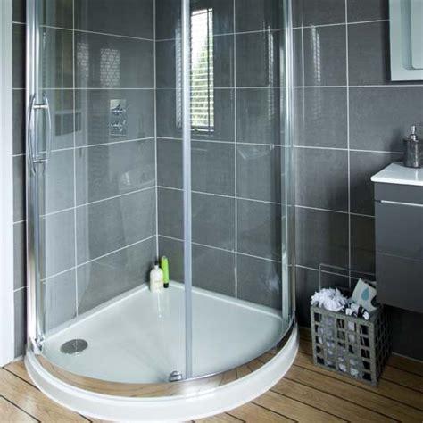 Bathroom Makeovers Uk by Quadrant Shower Modern Grey Bathroom Makeover