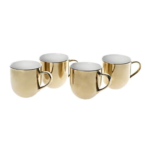 gold coffee mug buy pols potten mugs set of 4 gold amara