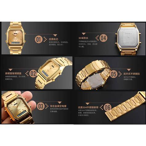 Skmei Jam Tangan Analog Digital Ad1110 Silver Blue skmei jam tangan premiun digital analog pria dg1220