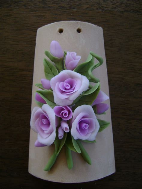 lavori in pasta di mais fiori tegola fiori pasta di mais fimo