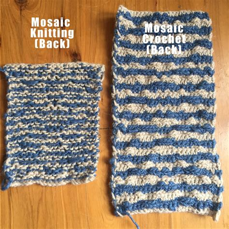 is knitting easier than crochet mosaic knitting vs mosaic crochet clearlyhelena