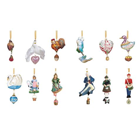 12 days of christmas decorations 12 days of collection glass ornaments by reed and barton