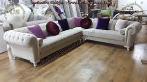 Purple Chairs For Bedroom velvet chesterfield style corner sofa purple modern