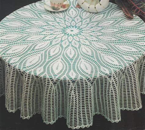 nappe ronde au crochet nappe au crochet nappe crochet crochet nappe feuilles pour gu 233 ridon tutoriel gratuit