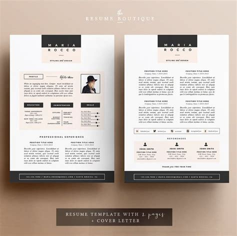 Resume Template The 3pk by 3pk Resume Cv Template Cover Letter For Ms Word