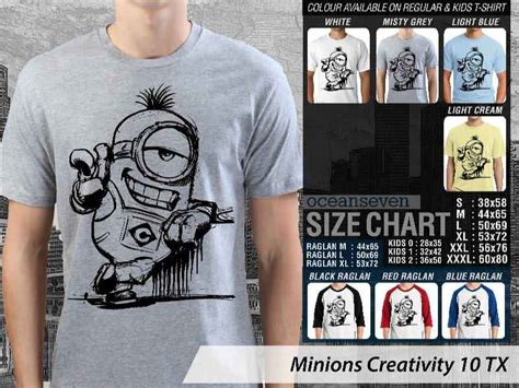Kaos Minions Creativity 11 wts oceanseven t shirt factory updated pembayaran