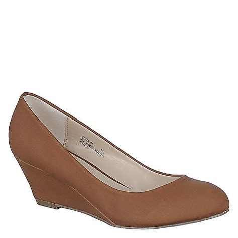 bamboo womens elias 01 chestnut casual slip on wedge shoe