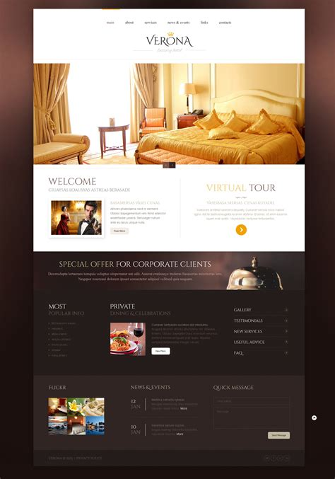 free templates for resort website hotels responsive website template 44316