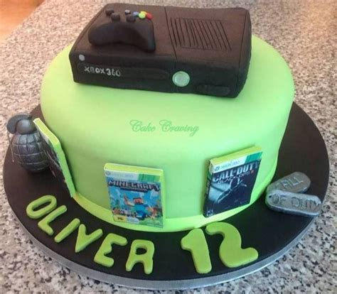 Xbox Themed Birthday Cake | xbox birthday theme xbox themed cake awesome cakes