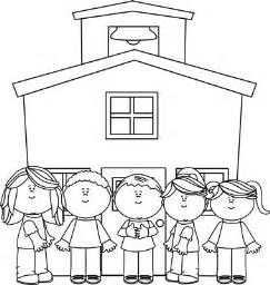 Back To School Outline by Black And White School At School Clip Black And White School At School Image