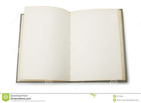 picture of an open book with blank pages open book with blank pages stock images image 5177434