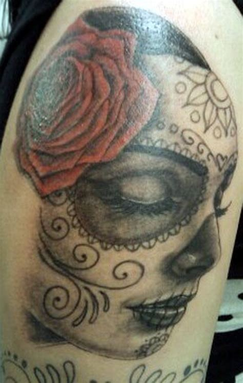 girl with the rose tattoo sleeping day of the dead with