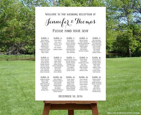 wedding seating sign template printable large wedding seating chart black white