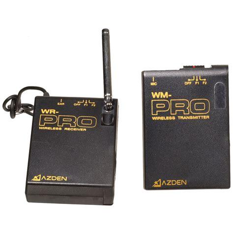 Azden Wlx Pro Vhf Wireless Lavalier Microphone System Azden Wlx Pro I Mountable Vhf Wireless Wlx Pro I B H