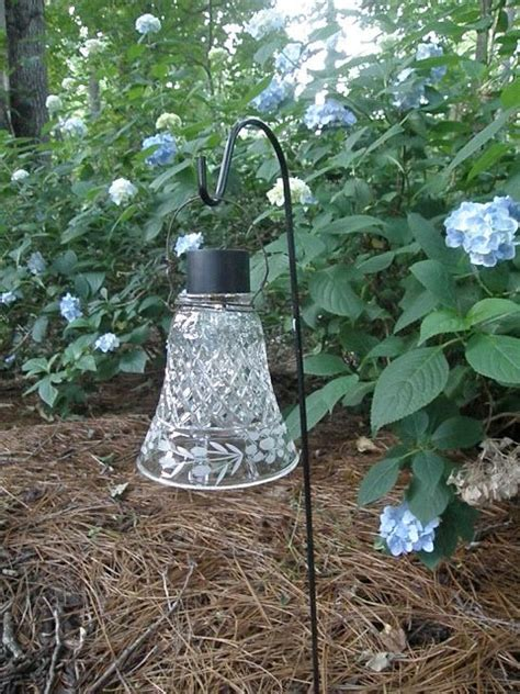 shepherd hook solar lights 34 best glass garden art images on pinterest garden art