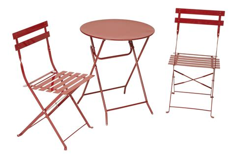 Patio Chair And Table Cosco Products Cosco Outdoor Living All Steel 3 Folding Bistro Patio Table And Chairs
