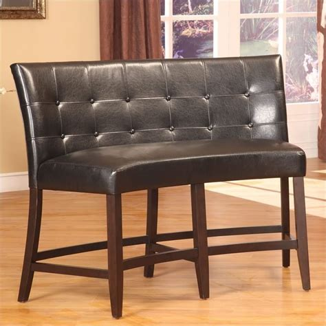 black banquette modus bossa counter height banquette in black leatherette