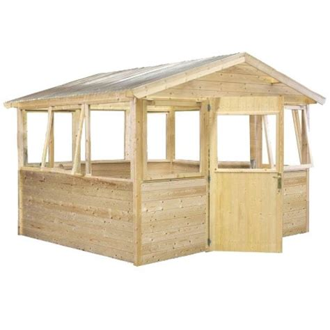 serre de jardin en bois serre abri de jardin en bois brut 9m 178 avec 233 tag 232 res gardy shelter