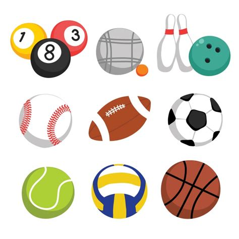 clipart collection free sport balls collection vector free