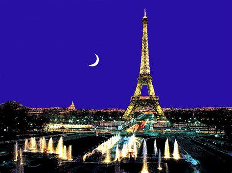 paris paris eiffel tower  night