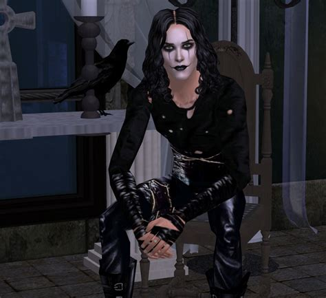mod the sims brandon lee as eric draven the crow