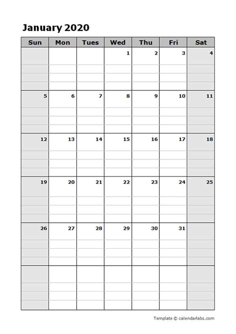 blank daily planner  printable templates