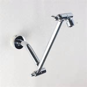 9 inch brass chrome adjustable height shower arm extension