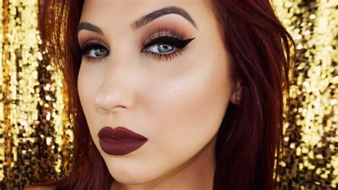 makeup tutorial jaclyn hill cat eye vy lips fall makeup tutorial youtube